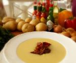 Zupa krem z wędzonych ziemniaków