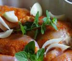 Udźce z kurczaka w dymnym sosie