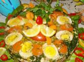Wielkanocny wieniec z kury