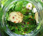Ogórki małosolne kimchi