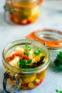 Ser mozzarella w oleju lnianym