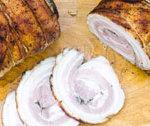 Boczek rolowany pieczony